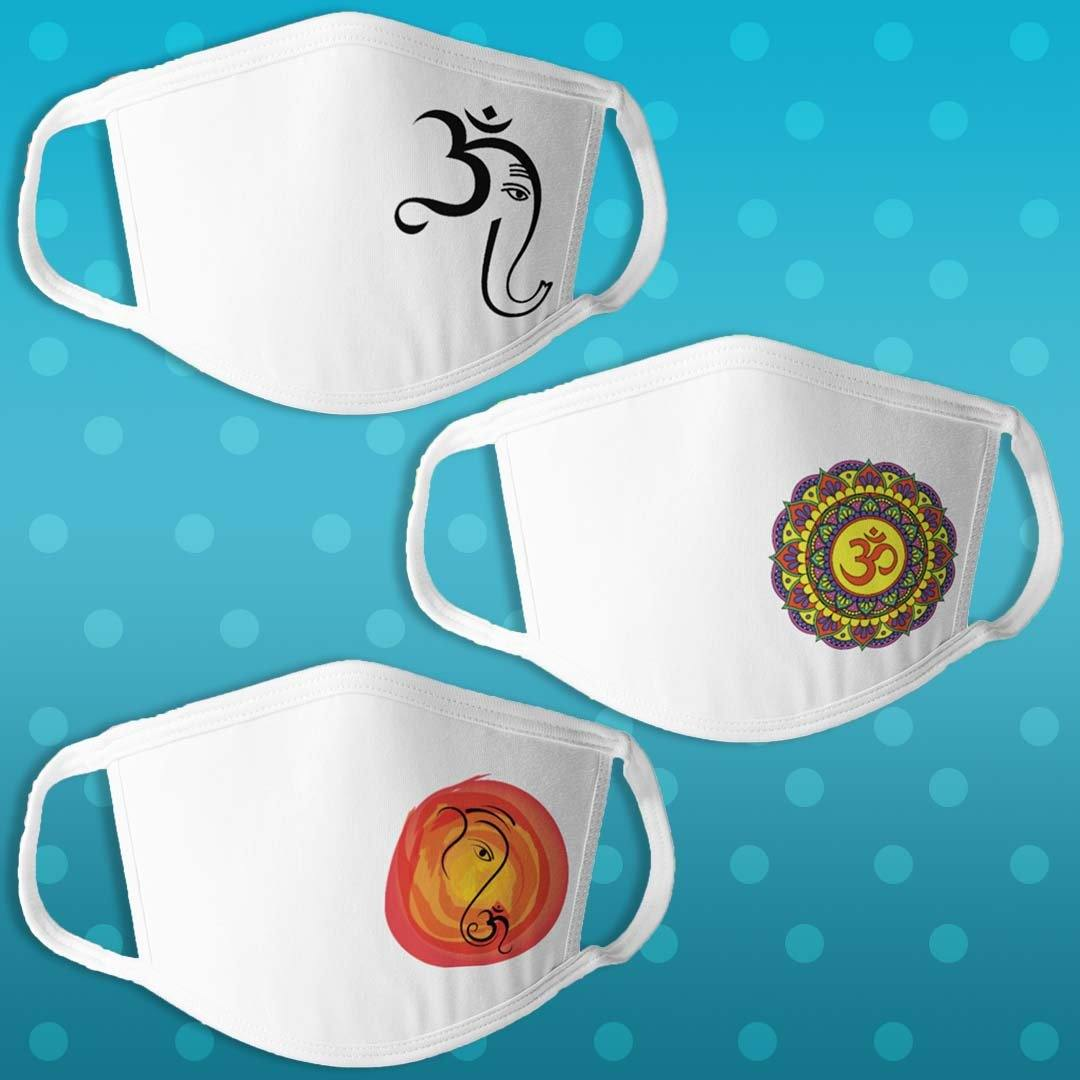Spiritual Edition 2 - Pack of 3 Masks - Daily Suvichar Store