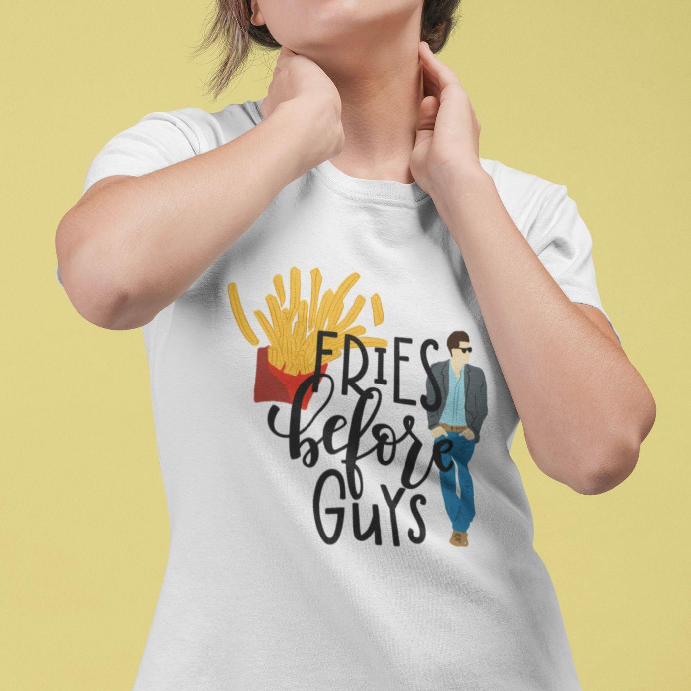 Fries Before Guys - Women's Tshirt - Daily Suvichar Store