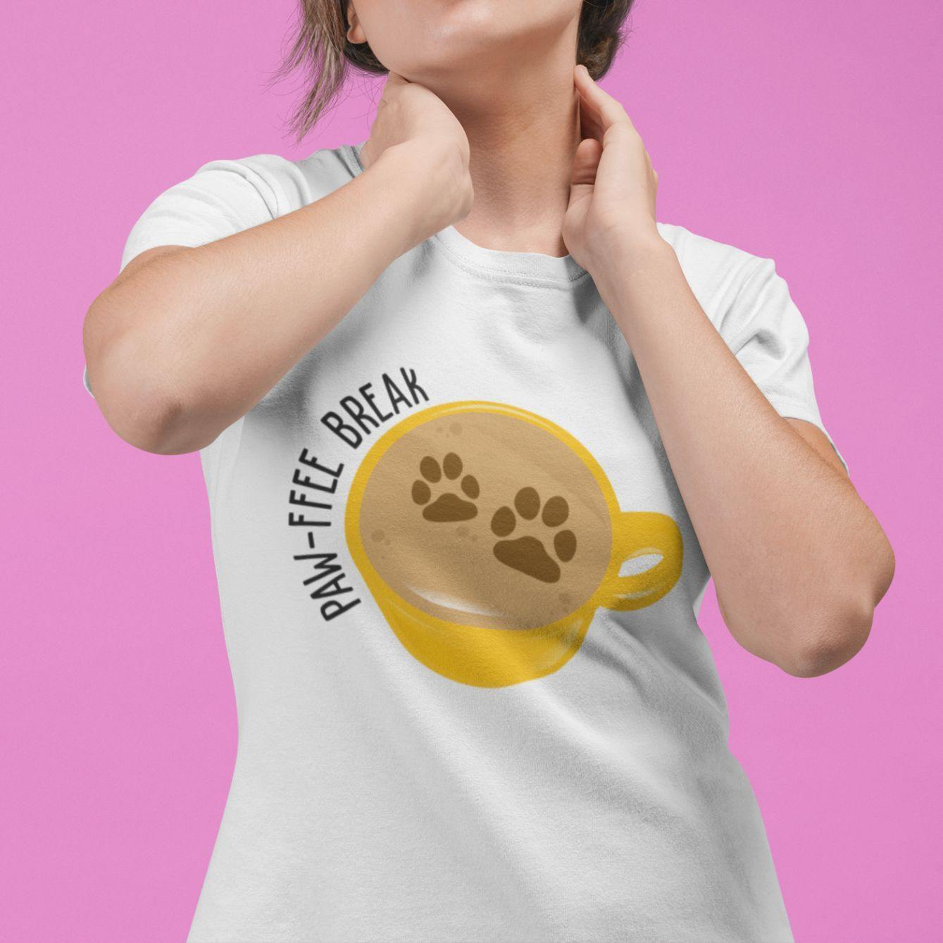 Pawffee Break - Women's Tshirt - Daily Suvichar Store