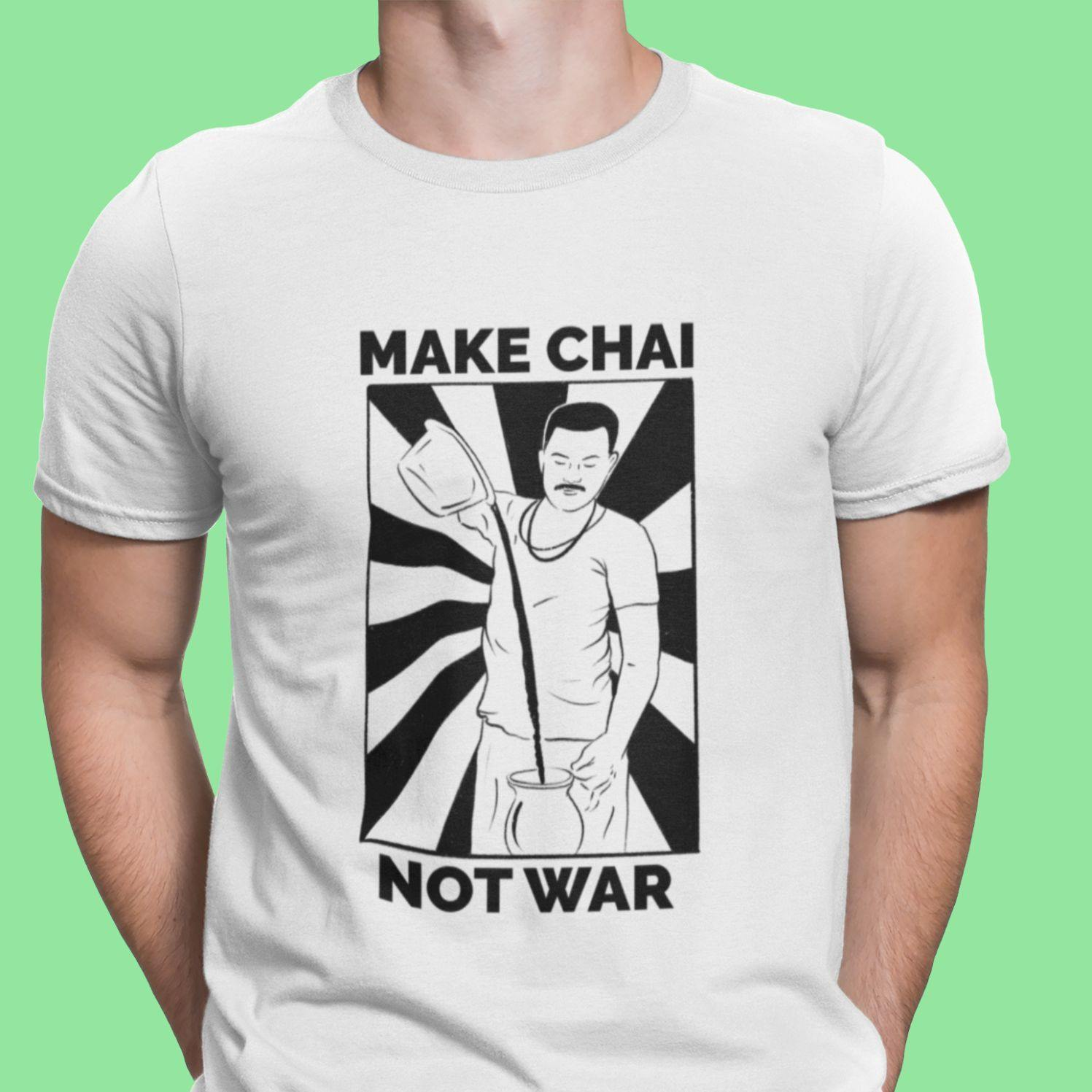 Make Chai, Not War - Men's Tshirt - Daily Suvichar Store