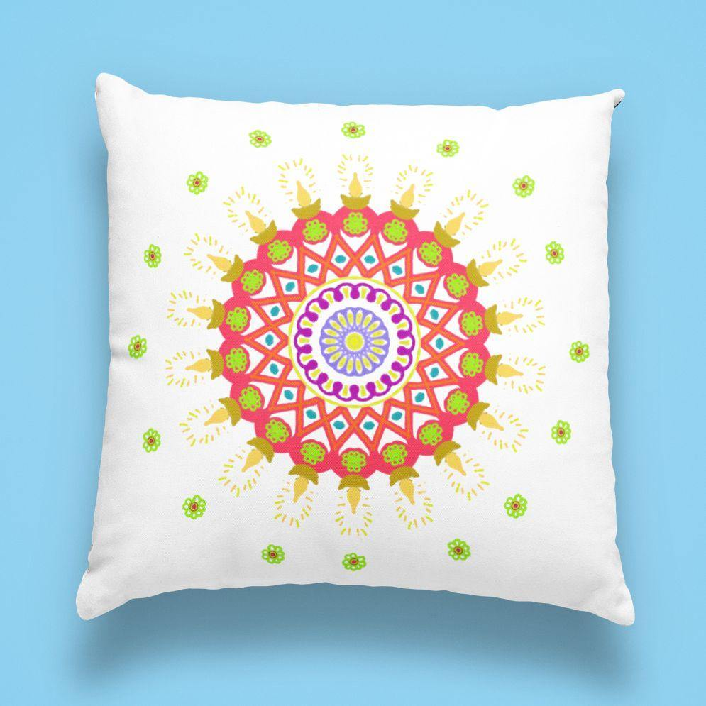 Bright Mandala - Cushion - Daily Suvichar Store