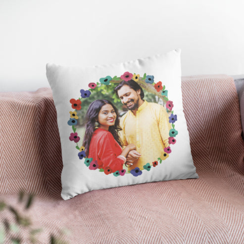 Floral - Personalized Cushion