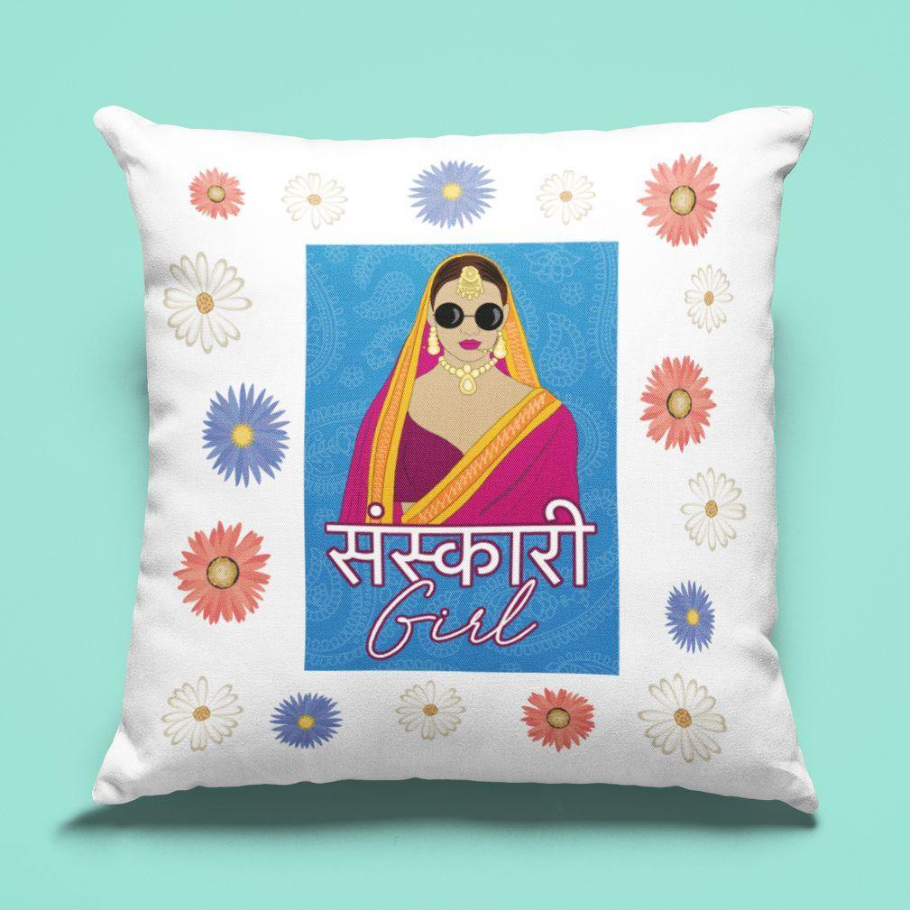 Sanskari Girl - Cushion - Daily Suvichar Store