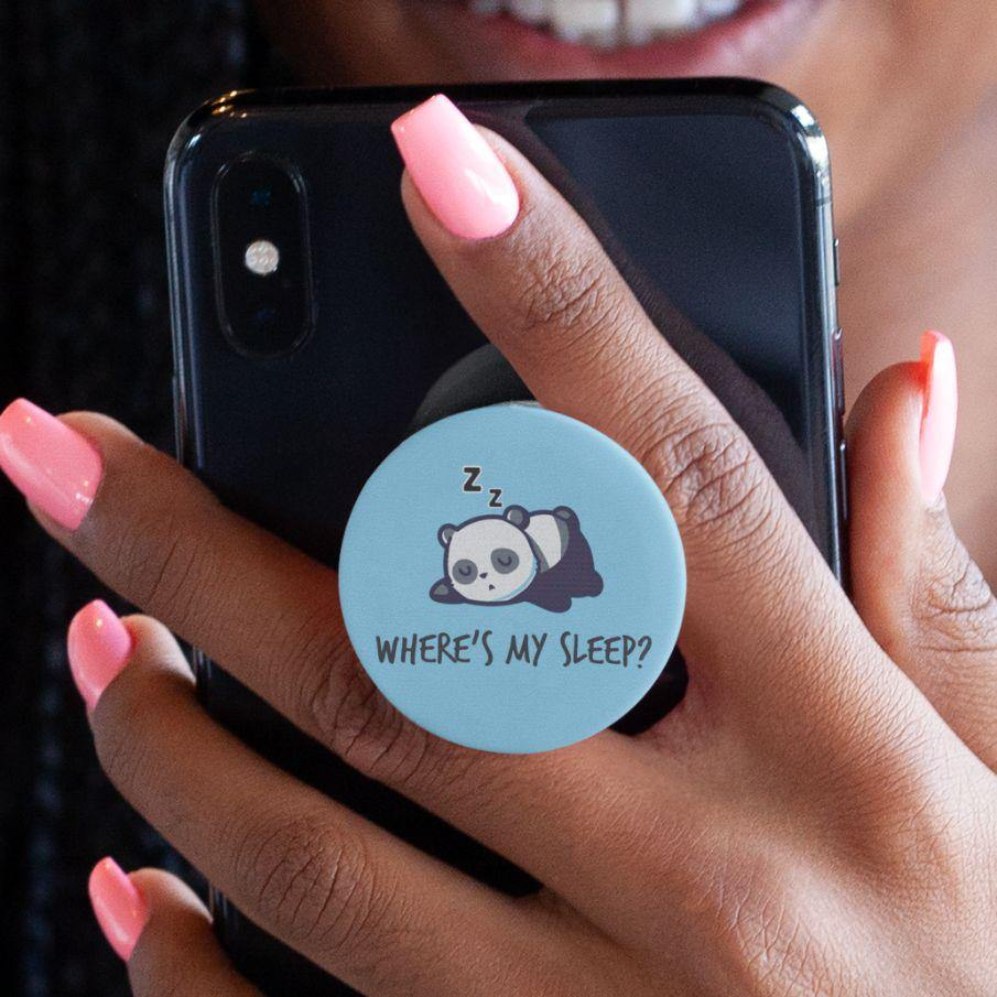 Where's My Sleep - White Phone Grip - Daily Suvichar Store