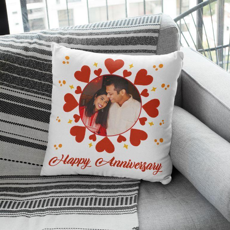 Anniversary - Personalized Cushion - Daily Suvichar Store