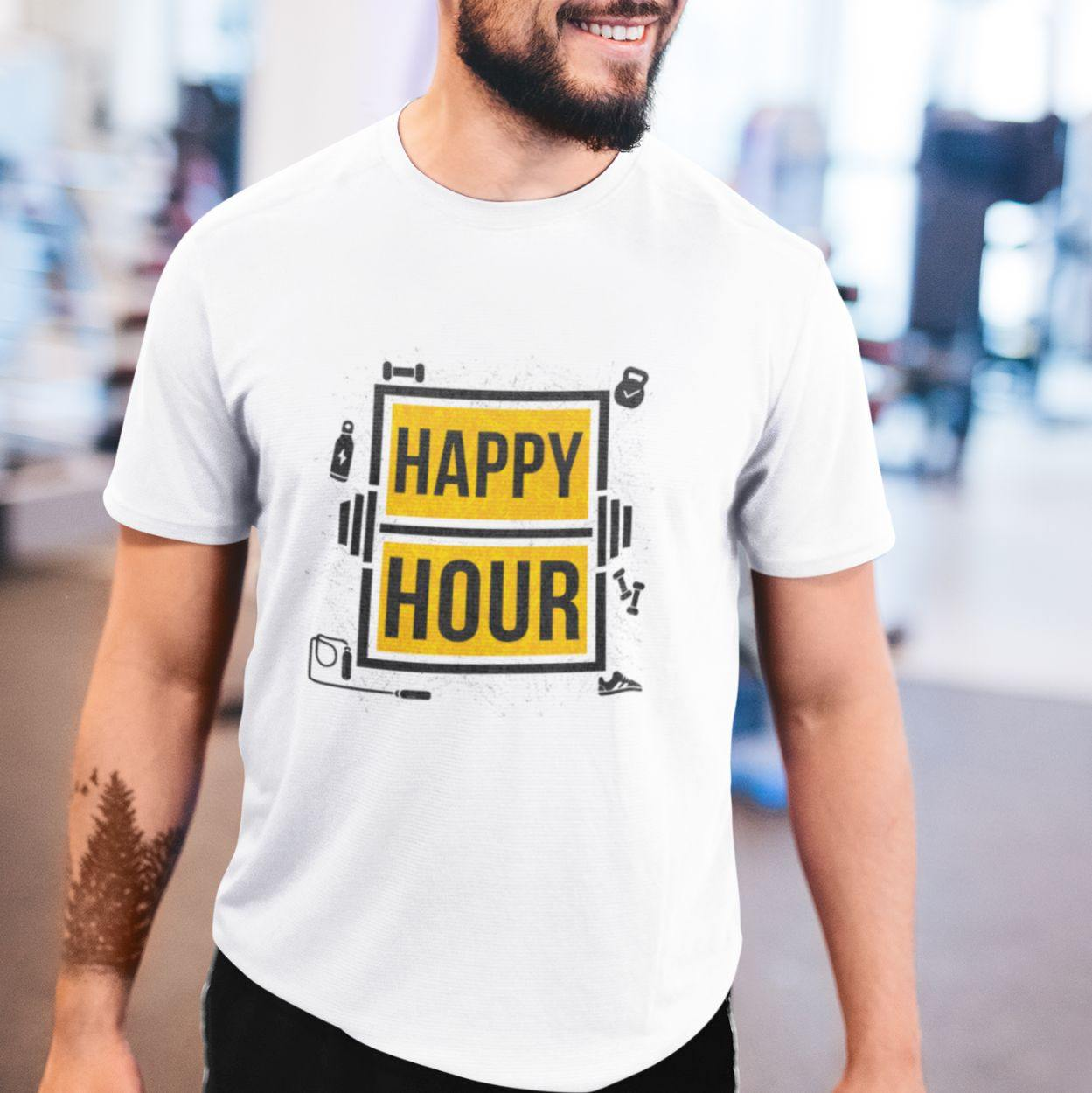 Gym Happy Hour - Men's Tshirt - Daily Suvichar Store