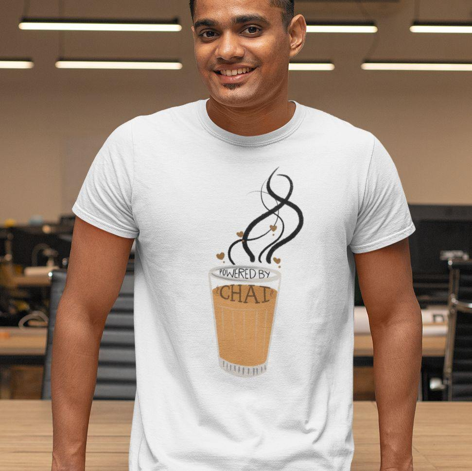 Powered By Chai - Men's Tshirt - Daily Suvichar Store
