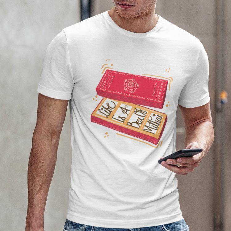 Life Is A Box Of Mithai - Men's Tshirt - Daily Suvichar Store