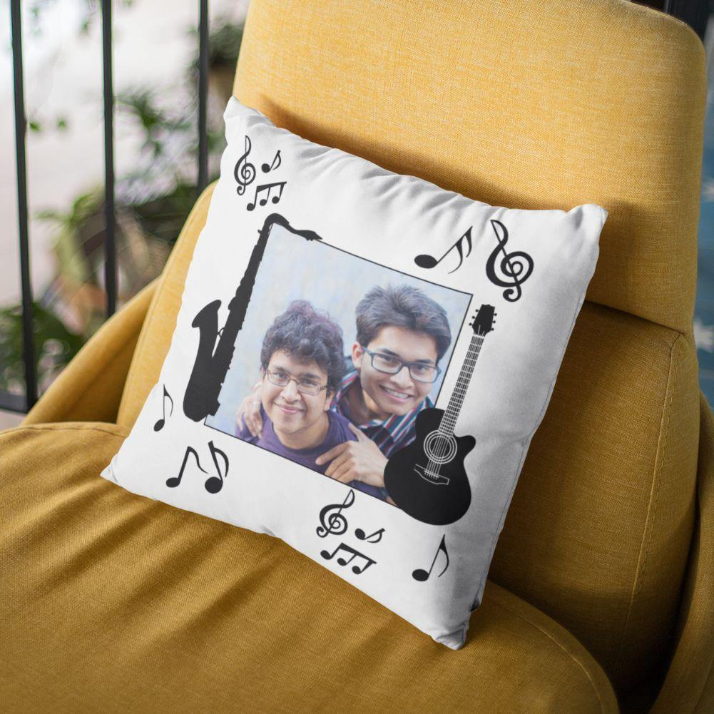 Music - Personalized Cushion - Daily Suvichar Store