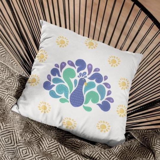 Peacock - Cushion - Daily Suvichar Store
