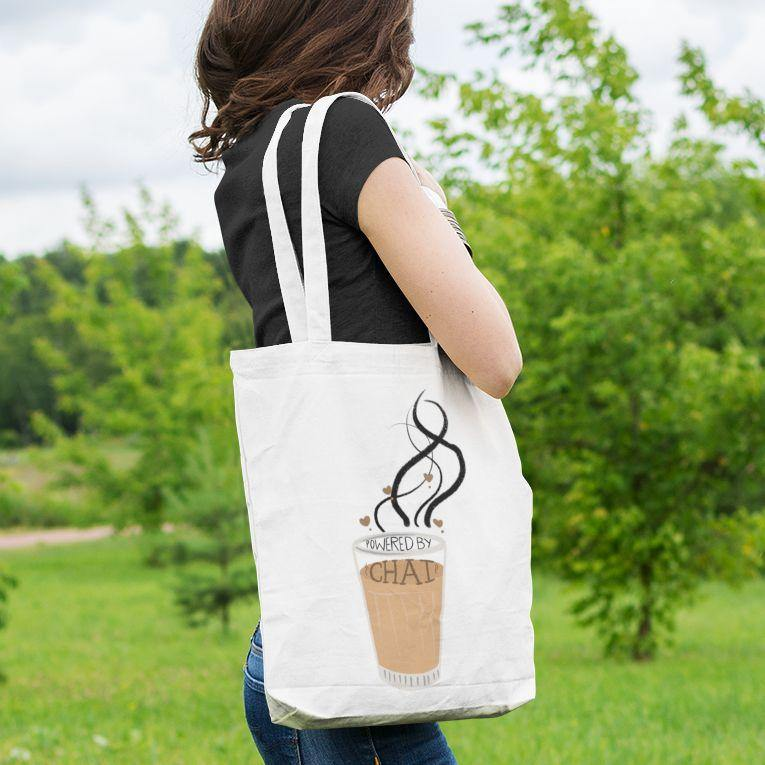 Powered By Chai - Tote Bag - Daily Suvichar Store