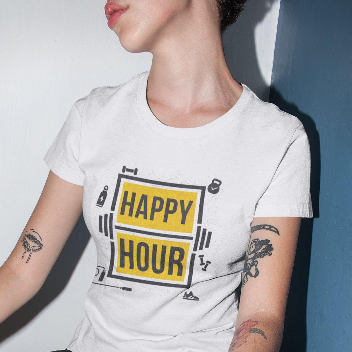 Gym Happy Hour - Women's Tshirt - Daily Suvichar Store