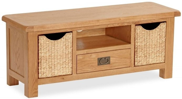 Shaftsbury TV Unit with Baskets