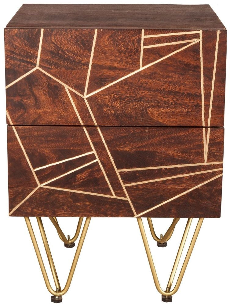 Abstract Side Table