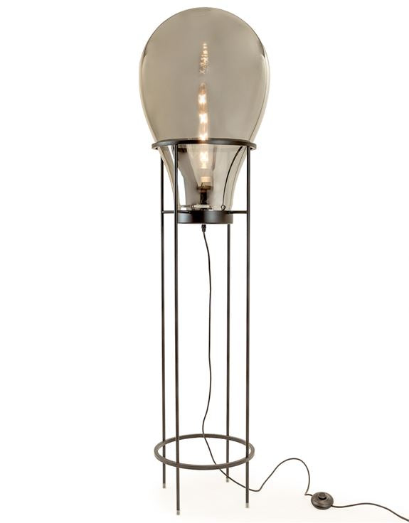 Large Smoked Glass Edison Lamp
