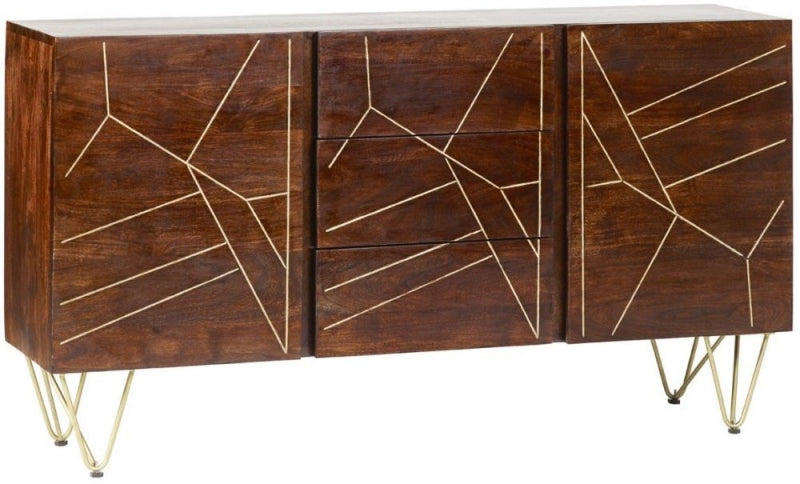Abstract Extra Large Sideboard