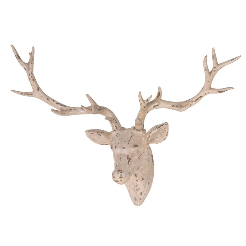 Distressed Deer Head Ornament