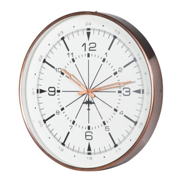 Wall Clock in Antique Copper Finish