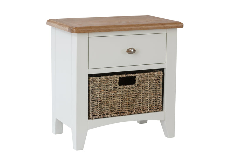 Gosport Lamp Table with basket