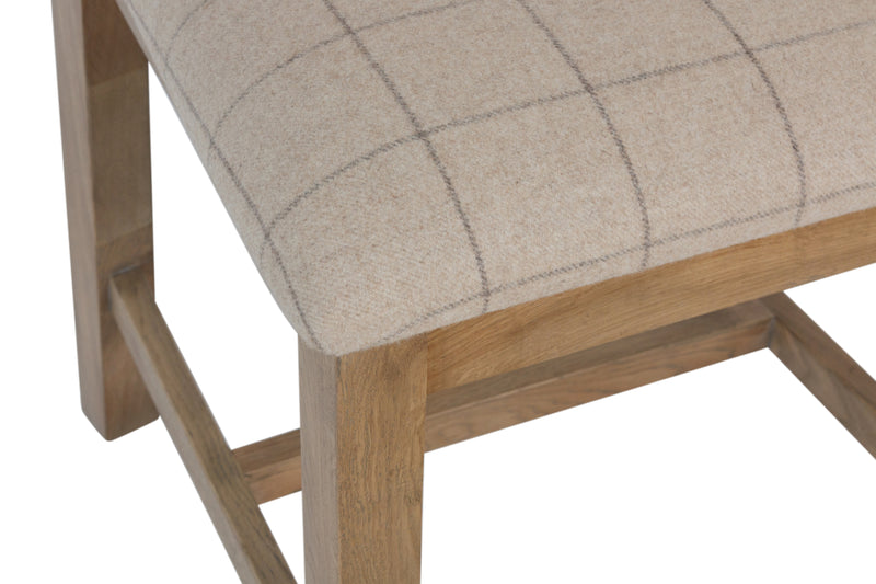 Horner Slat Back Fabric Seat Dining Chair