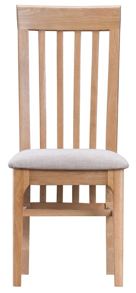 Newton Slat Back Fabric Seat Dining Chair