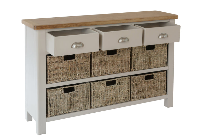 Dover 3 Drawer 6 Basket Unit