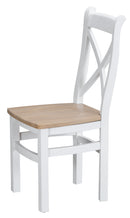 Titchfield Cross Back Solid Seat Dining Chair
