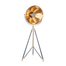 Black and Brass Large Tripod Floor Lamp