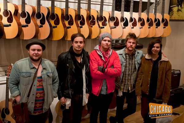 Of Monsters and Men in the Chicago Music Exchange Acoustic Room.