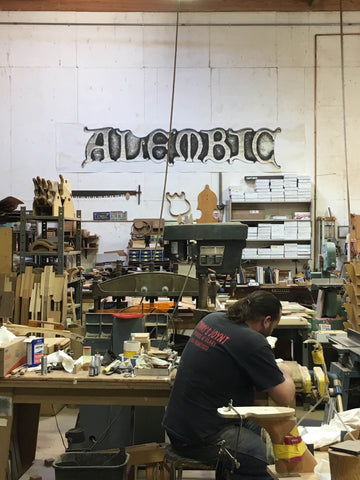 A glimpse at the Alembic shop in Santa Rosa.