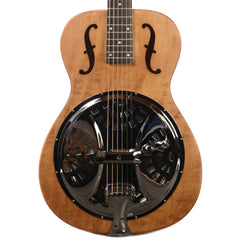 Dobro Hound Dog Round Neck Resonator Vintage Brown