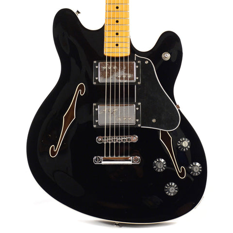 Fender Starcaster Black with Maple Fingerboard