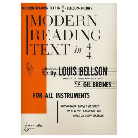 Modern Reading Text in 4/4 Book By Louis Bellson