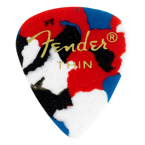 Fender 351 Guitar Picks Pack Confetti Thin (12)