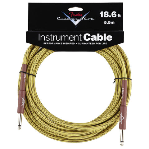 Fender Custom Shop Instrument Cable 18.6 S/S Tweed