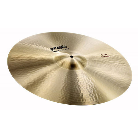 Paiste 22 Inch Formula 602 Thin Crash Cymbal
