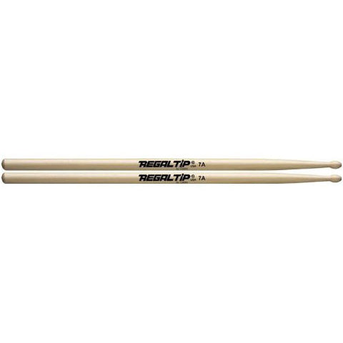 Regal Tip 7A American Hickory Nylon Tip Drumsticks