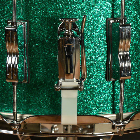 Ludwig 13/16/22 Classic Maple Kit Green Sparkle w/ Free 6.5x14 Snare