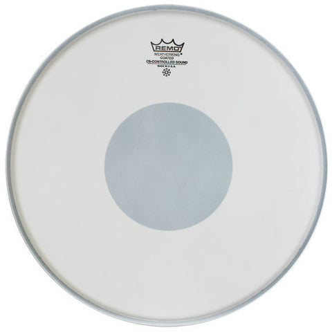 Remo 15 Inch Batter Controlled Sound Coated w/ Black Dot Drum Head