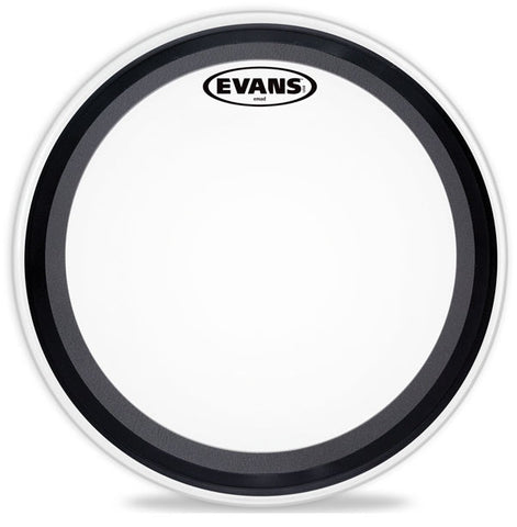 Evans 24 Inch EMAD Bass Drum Batter Head Coated