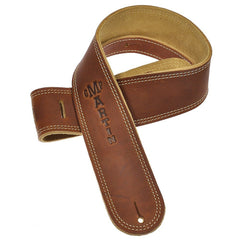 Martin Soft Baseball Leather Guitar Strap - Brown Suede
