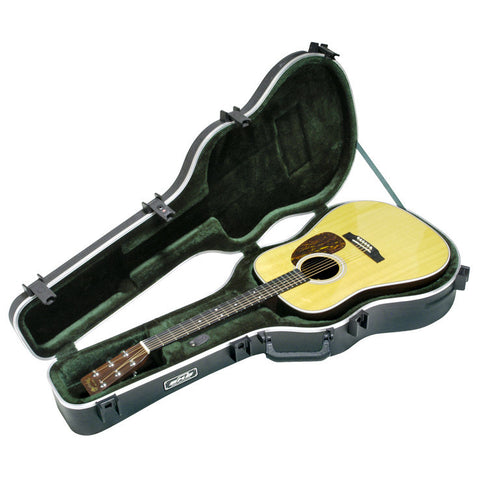 SKB Deluxe Acoustic Dreadnought Shaped Hardshell Case w/TSA Latch