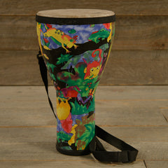 "Remo 8"" Kids Percussion Djembe Drum Fabric Rain Forest USED"