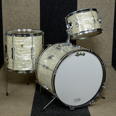 Ludwig 12/14/20 3pc Club Date Drum Kit White Marine Pearl 1967 USED