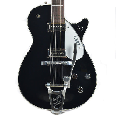 Gretsch G6218T-CLFG Cliff Gallup Signature Duo Jet Black w/Bigsby & Premium Tweed Hardshell Case