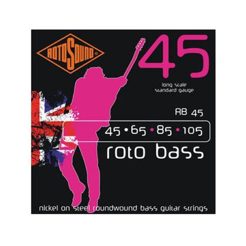 Rotosound RB45 Rotobass Nickel Roundwound Bass Strings 45-105