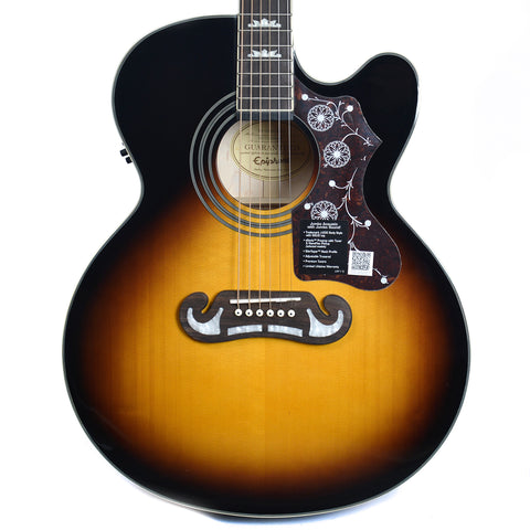 Epiphone EJ-200SCE Solid Top Acoustic-Electric Vintage Sunburst