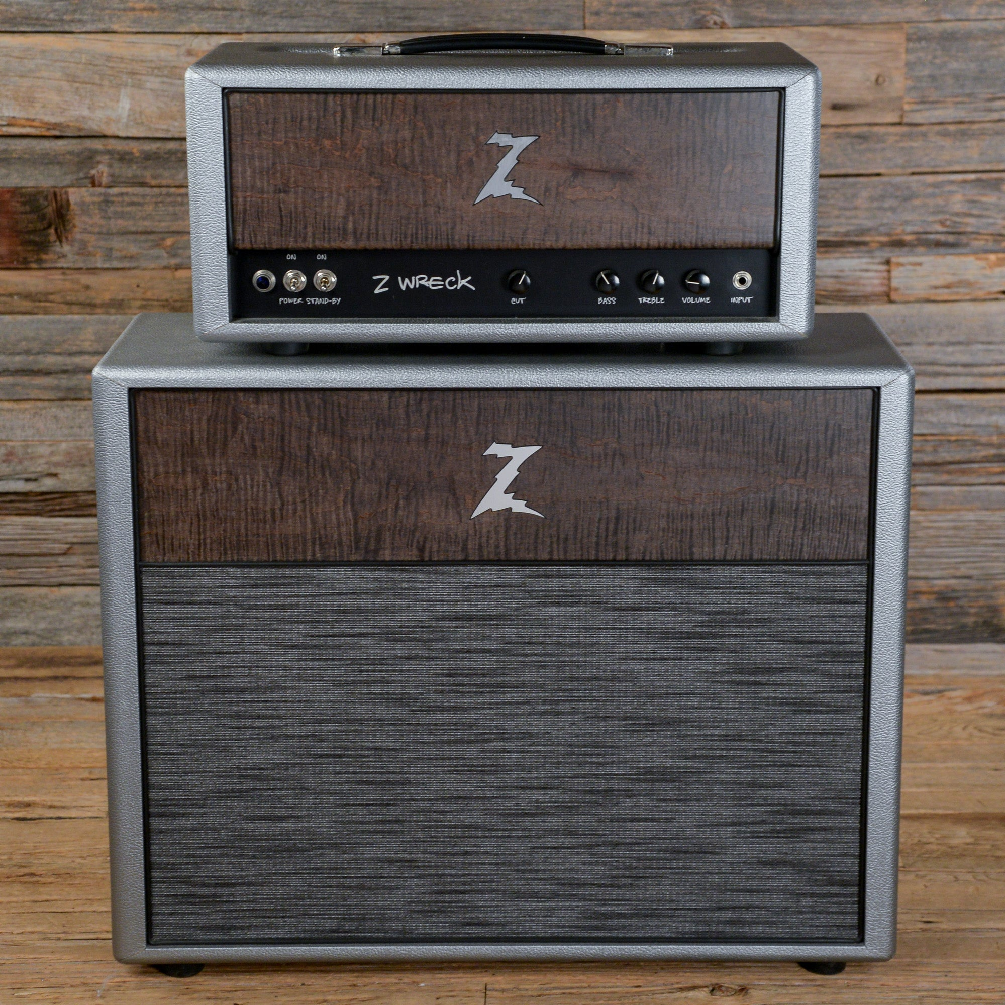 Dr. Z Z-Wreck Silver Set w/Head & Matching 2x12 Cabinet 2011 USED ...