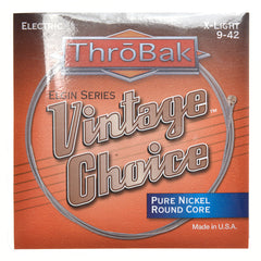 ThroBak Round Wound Pure Nickel Round Core X-Light Electric String Set (9-42)