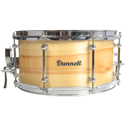 Dunnett 7x14 Dream Time Olive Wood Snare Drum Natural